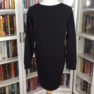 Active USA Dresses - Black Lace-Up Sweater Dress